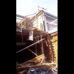 【解体動画富山】回転グラップル木造長屋解体工事(立山町)