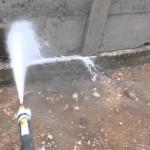 【便利屋動画富山】高圧洗浄機清掃・万代塀 ①